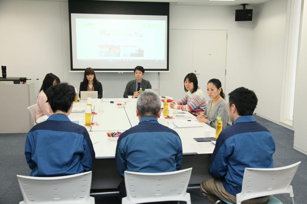トキっ子くらぶモニターと東京電力スタッフの座談会風景
