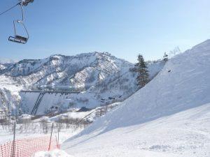 スキー場冬ダム