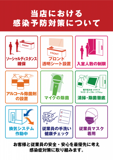 【ビッグエコー】感染予防対策(店頭ポスター)