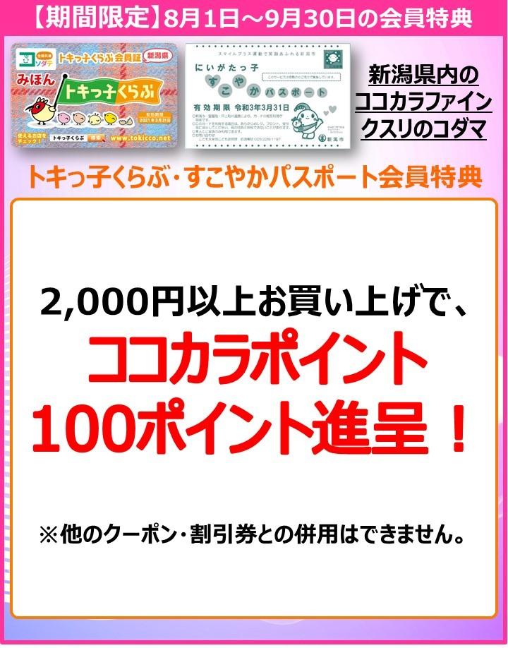 ココカラファイントキっ子202008特典