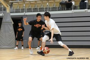 新潟アルビレックスバスケットボールスクール③