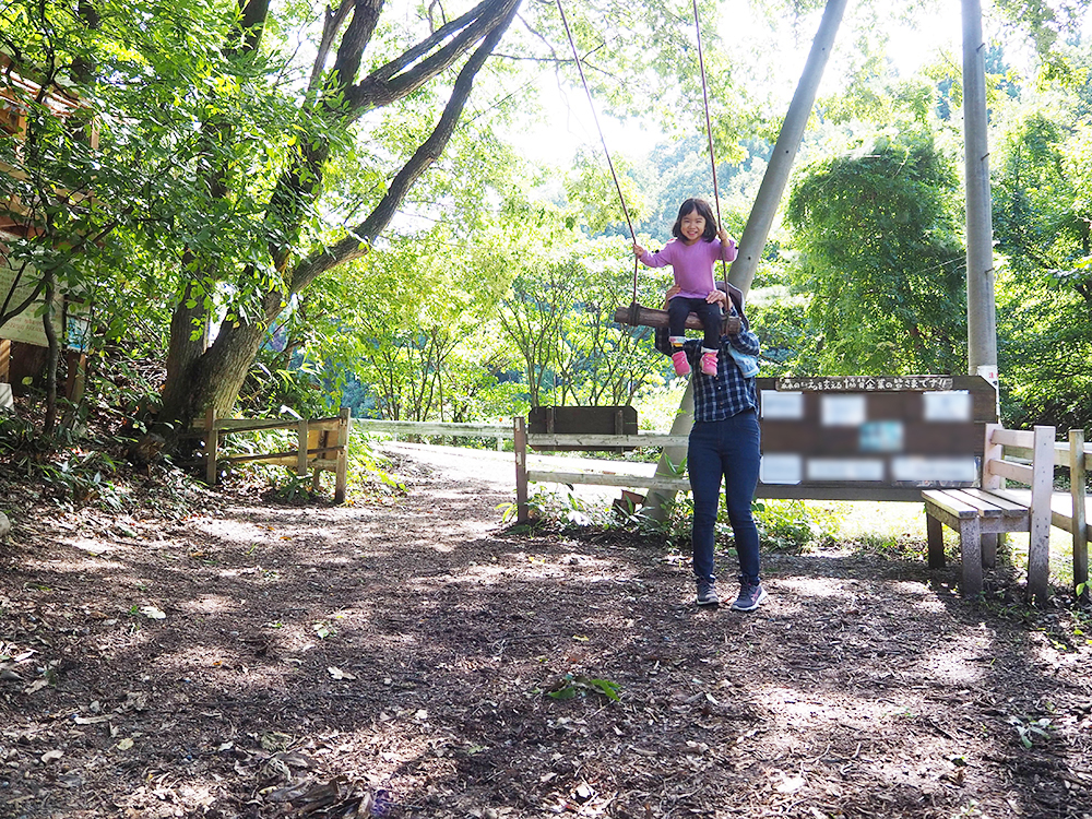 Akiha里山子育て支援センター森のいえ_木のブランコ