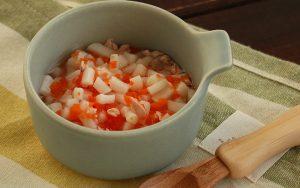 食くーるモグモグ期離乳食レシピ鮭と人参のうどん