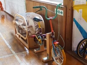 絵本と木の実の美術館自転車2