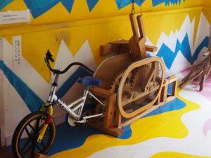 絵本と木の実の美術館自転車3