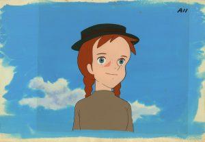 「赤毛のアン」セル付き背景画